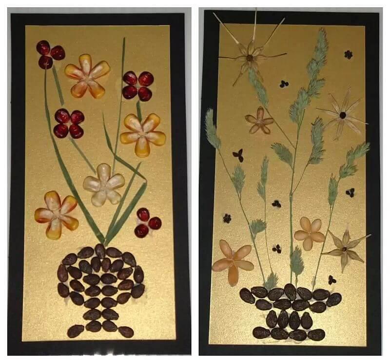 tablouri decorative din seminte