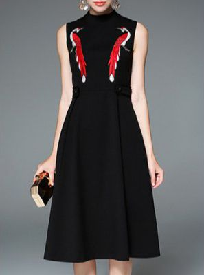 Black high neck dresses