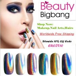 Rainbow Pigment Nail Holographic Unicorn Powder