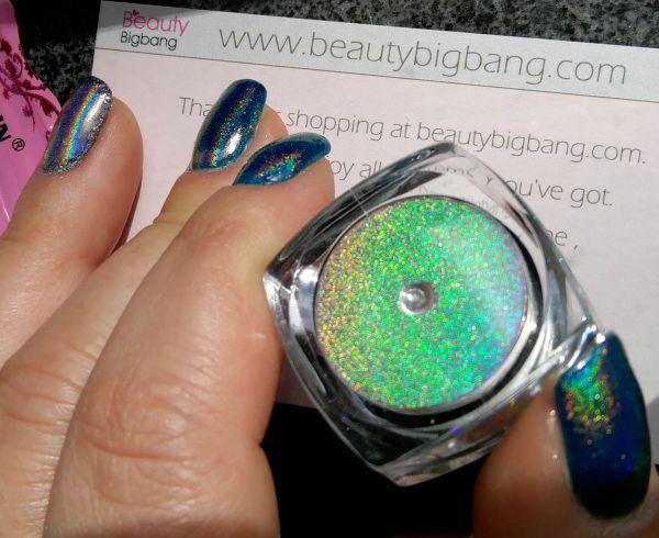 Rainbow holo pigment