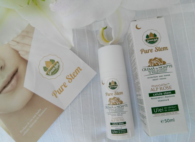 Crema de noapte pure stem green lab