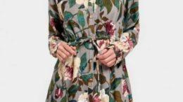 Button Up Floral Print Shirt Dress