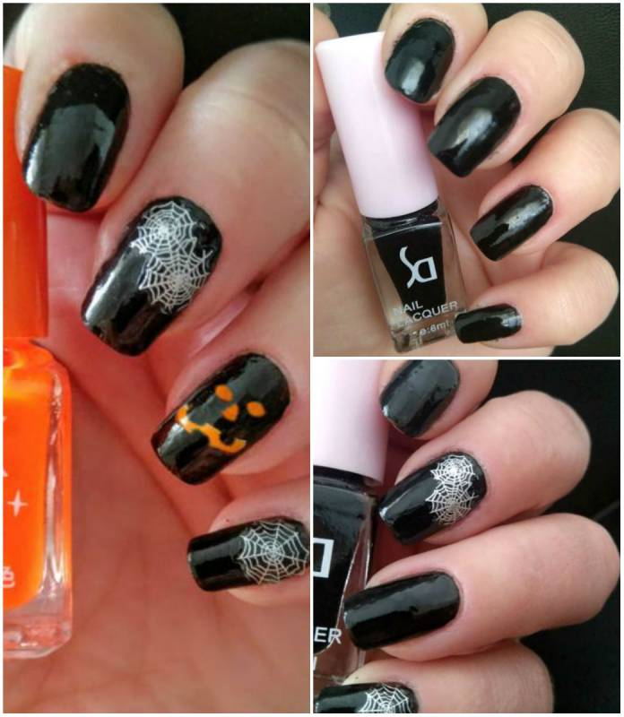 Pumpkins nail art