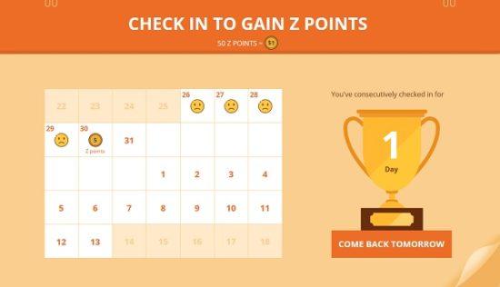 Zaful Z points