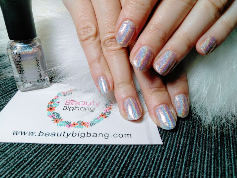 6ML Silver Holographic Nail Polish Holo Glitter Varnish Hologram Effect Manicure Nail Art Varnish