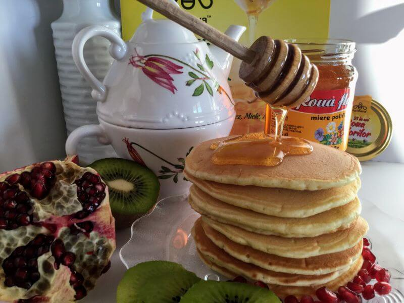 pancakes cu miere