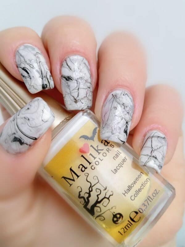 Stone marble nail art