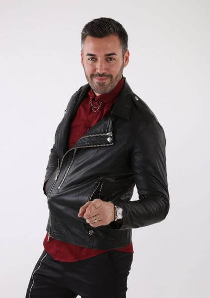 garderoba masculina geaca neagra bike