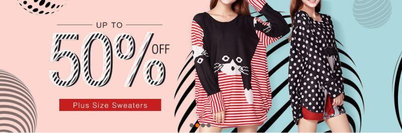 banggood plus size sweaters