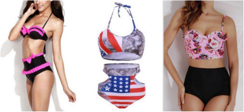 high waisted bikini swimwear