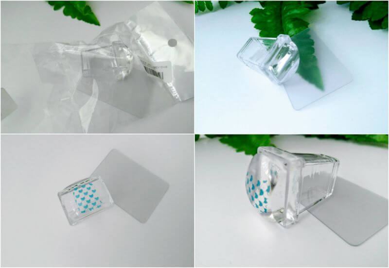 Ștampilă transparentă de silicon pentru nail art