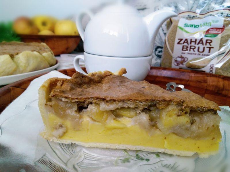 Tarta cu mere si zahar brut