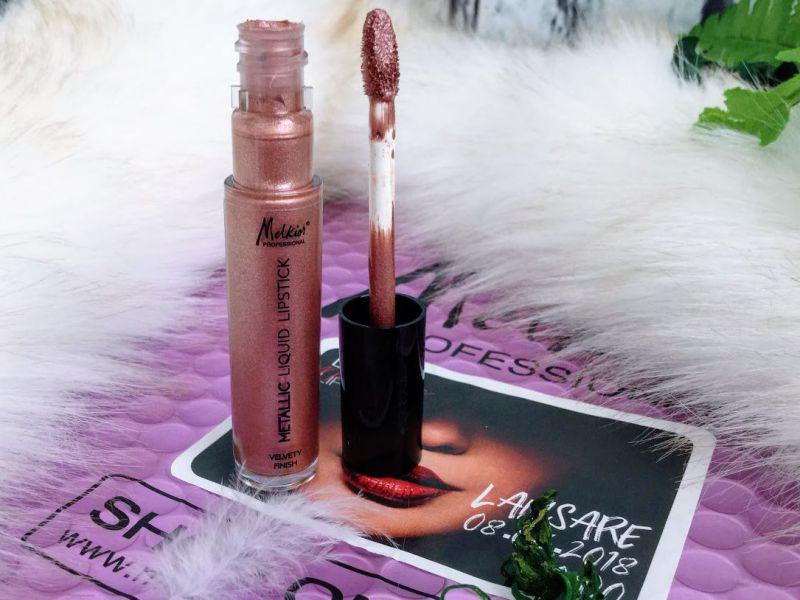 Liquid Metallic Lipstick Melkior, nuanța GLOW