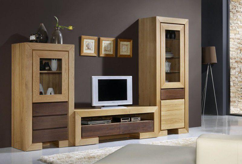 mobilier salon din lemn masiv de stejar