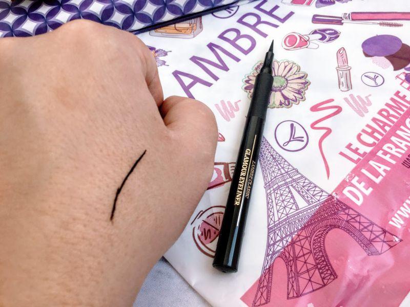 swatch eyeliner creion lichid Lambre
