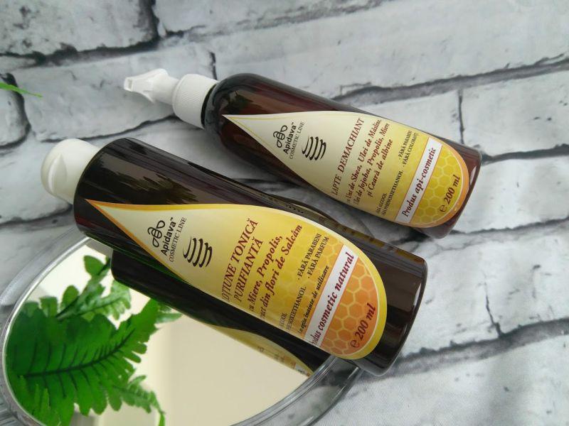 Lotiune tonica purifianta si Lapte demachiant Apidava