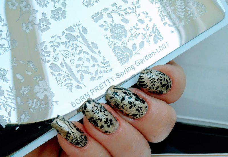 BORN PRETTY - Flower Leaf Nail Art Image Plate Spring Garden L001