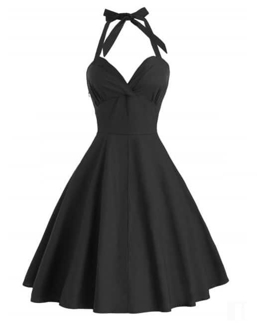 Halter Vintage A Line Dress