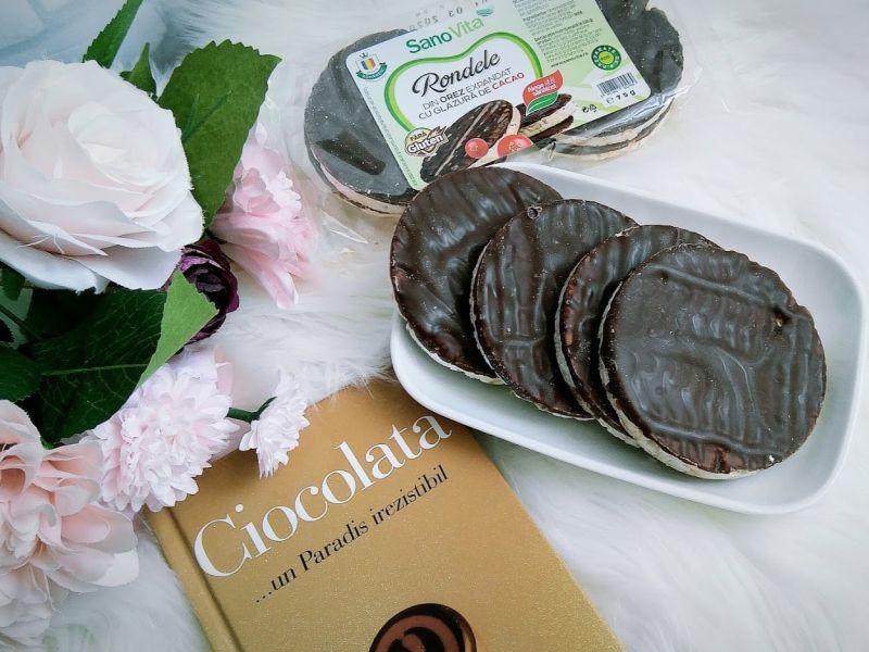 rondele de orez cu glazura de cacao