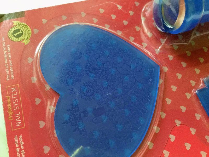 set matrita plastic stampila unghii