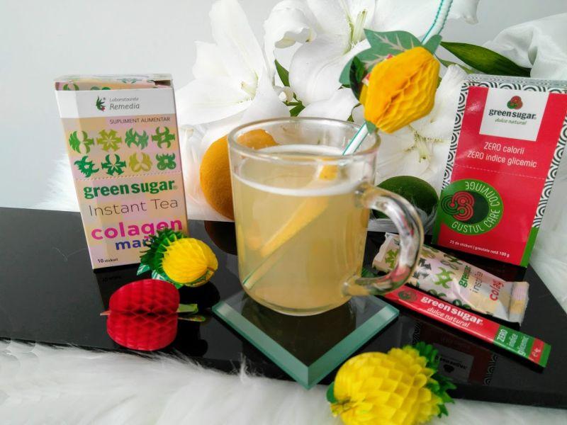 ceai instant cu colagen marin