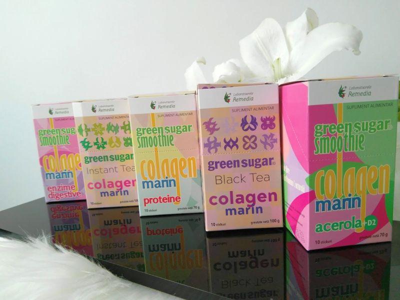 green sugar cu colagen marin