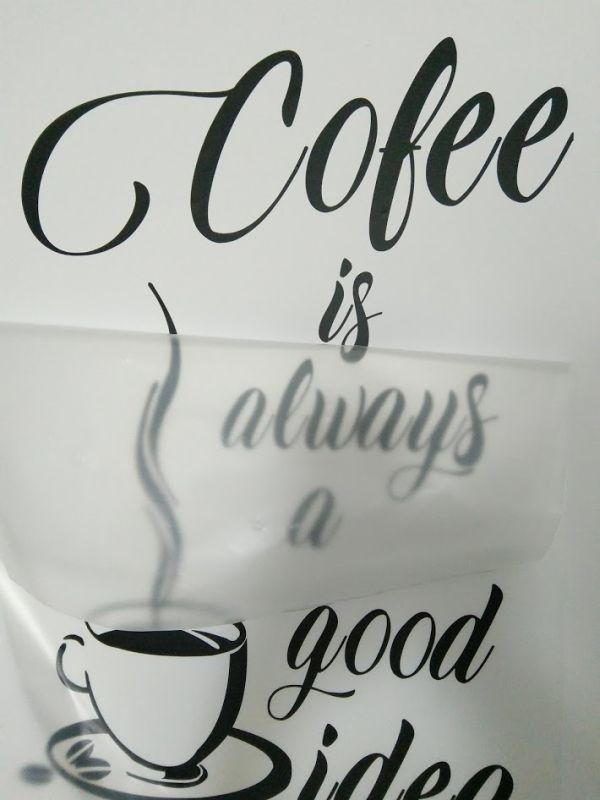 sticker perete cu cafea