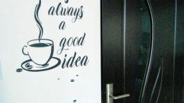 sticker decorativ cu cafea
