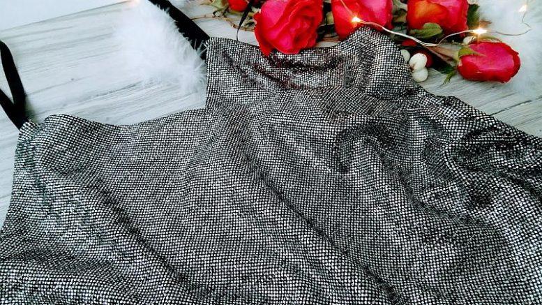 Silver Metallic Plunge Wrap Bodysuit - Elsa