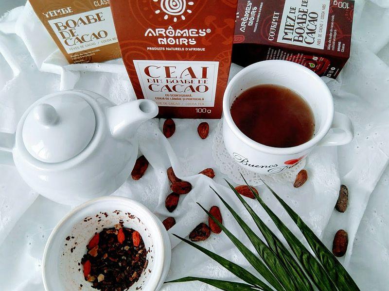 ceai de boabe de cacao
