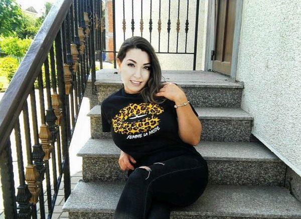 Black Leopard Print 'Femme La Mode' Slogan Print T-Shirt
