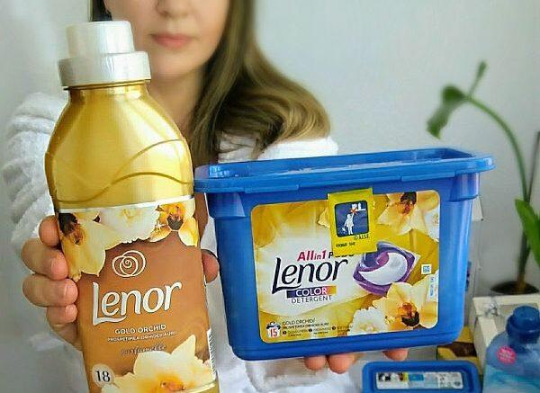 Detergent capsule Lenor Allin1 PODS Gold Orchid