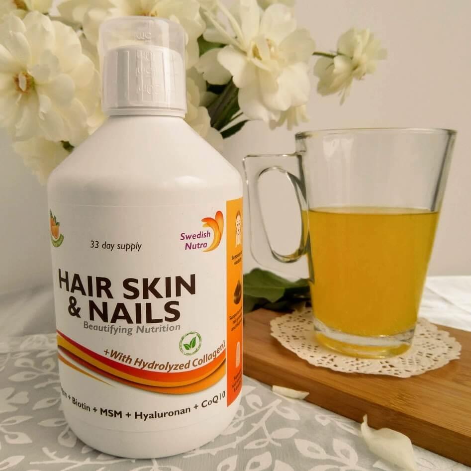 Hair Skin & Nails – Colagen Lichid Hidrolizat 1000mg + Biotina cu 27 Ingrediente și Vitamine