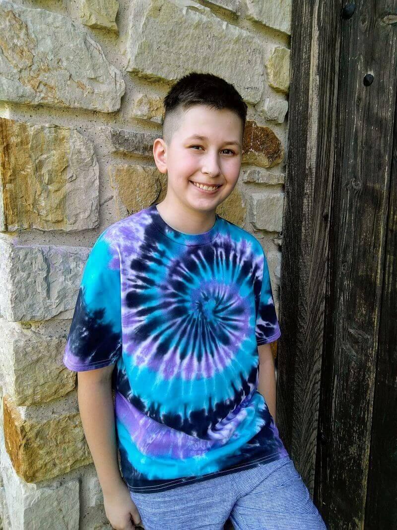 tricou tie dye
