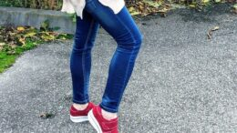 Pantofi damă casual Piele roșii Elena
