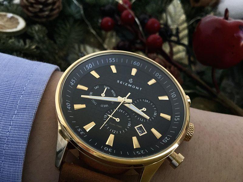 Theo Troika Chronograph Watch Black
