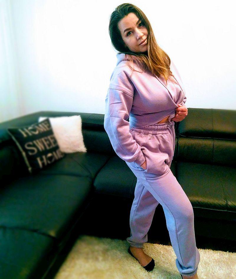 loungewear lila set