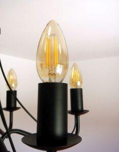 becuri LED lustra vintage