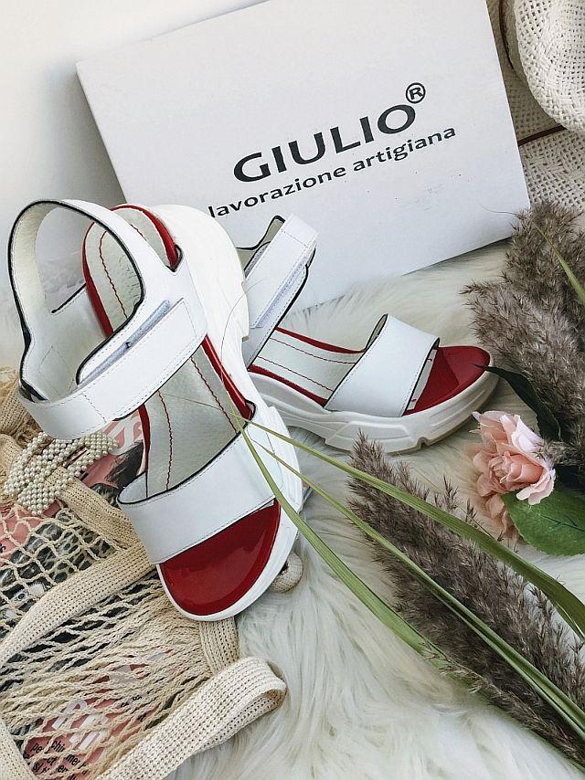 sandale din piele naturala albe