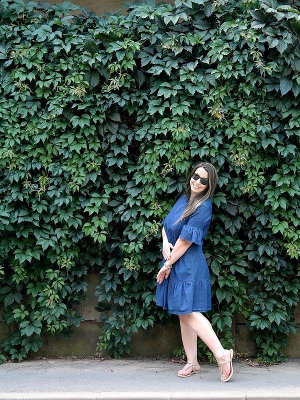 rochie clopot din denim topcloset