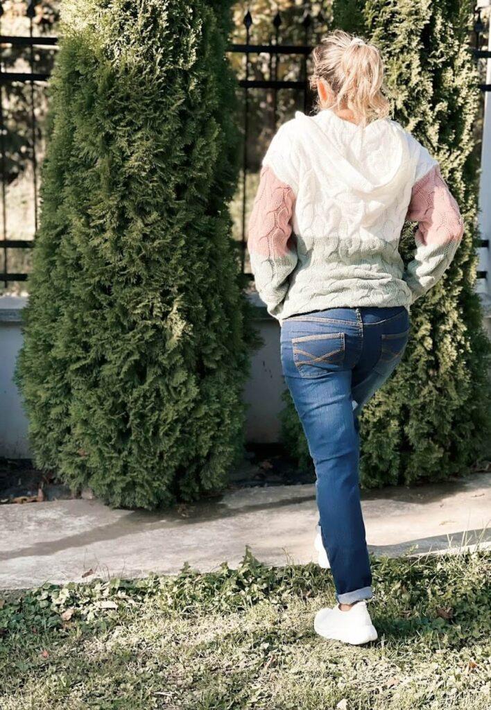 Jeans stretch Skinny , Lungimea S - siluetă joasă